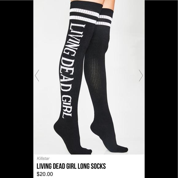 515a414ea82bd Killstar Accessories | Living Dead Girl Thigh High Socks Nwot | Poshmark
